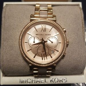 Michael Kors Sofie Rose Gold-Tone Watch